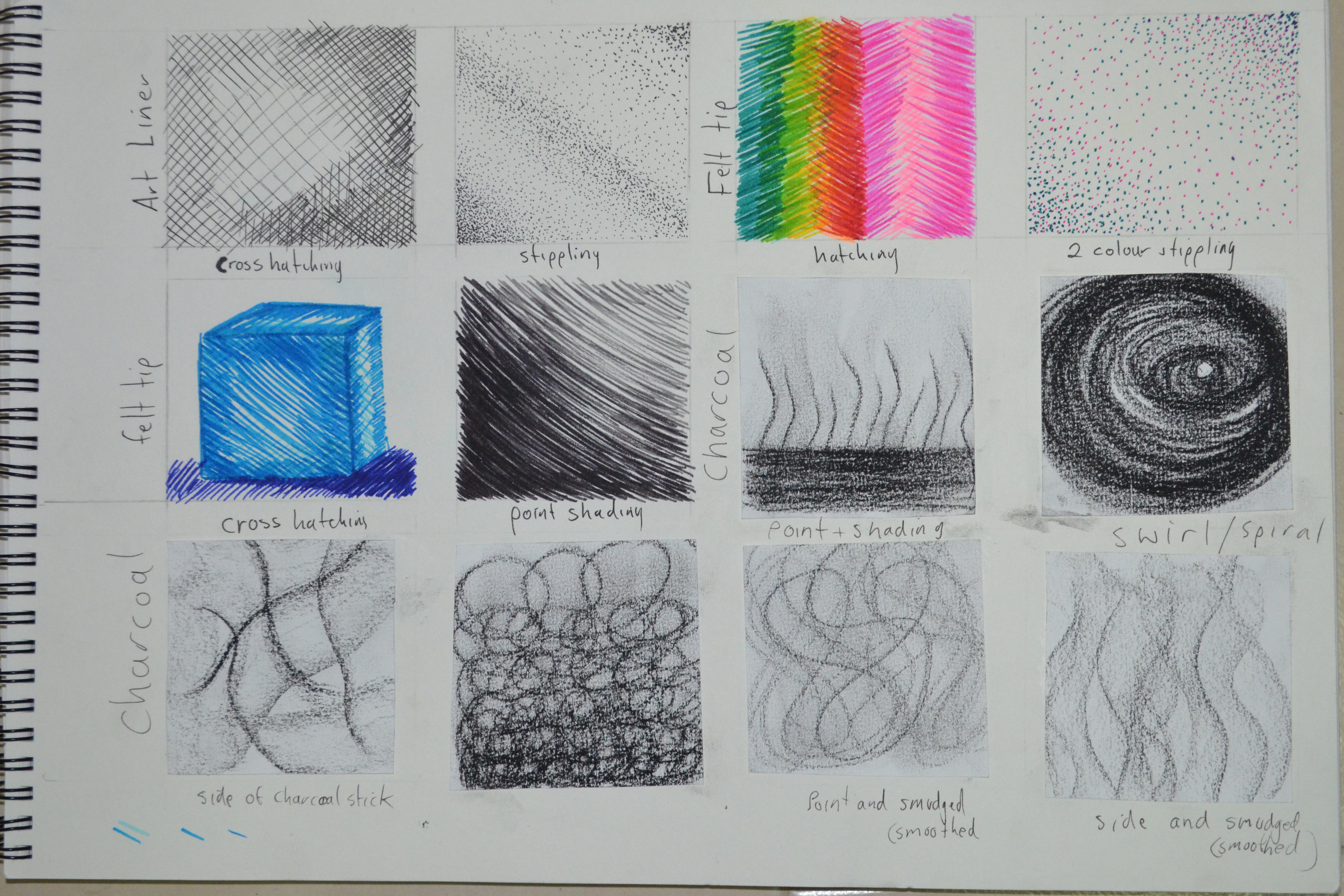 Drawing Scribble Technique : Making marks mark techniques my drawing course