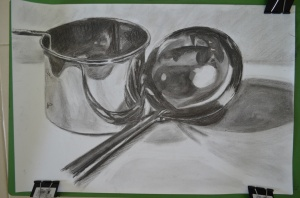 Finished Drawing, Shadows and Reflective Light and Shade