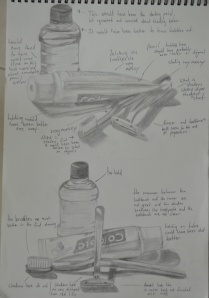 exercise: still life of man made objects