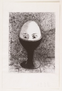 The Egg, Odilon Redon 1885