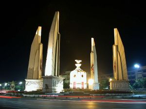 Democracy Monument by Silpa Bhirasri Bangkok