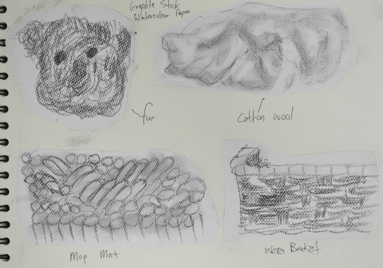 oca drawing course. texture using pencil – My Drawing Course