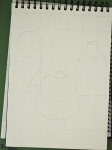 Enlarging a simple flat image - englarged sketch
