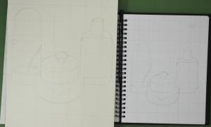 Enlarging a simple flat image - Side by Side