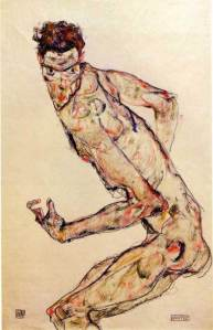 Egon Schiele - Fighter, 1913