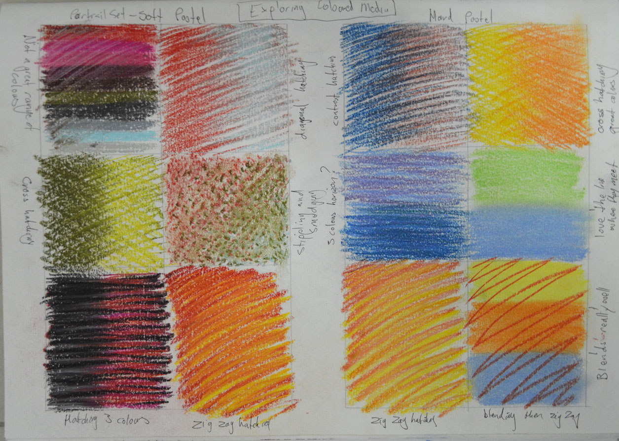 1 – Exercise Exploring Coloured Media – My Drawing Course