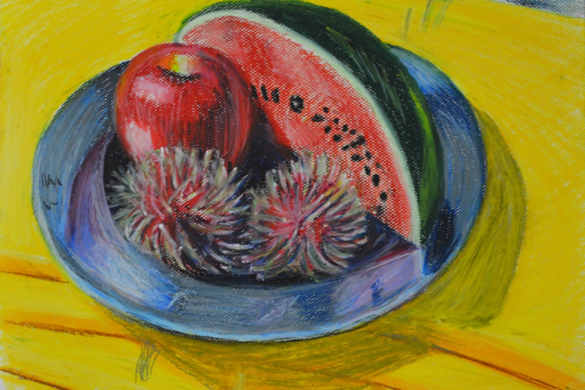 Drawing Using Oil Pastel - Finished drawing
