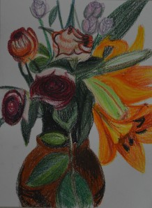 Drawing with Crayons and Oil Pastels