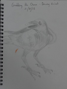 Grabbing the Chance - first go - pencil