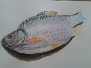 Fish on a Plate - detail