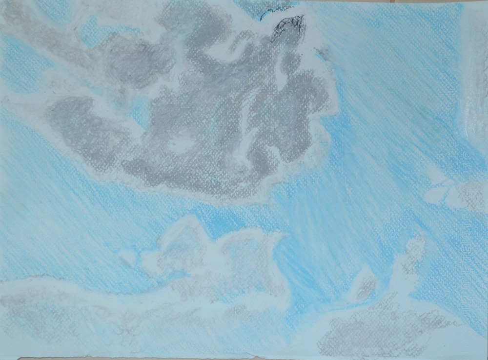 1 - Cloud Formation in Oil Pastel