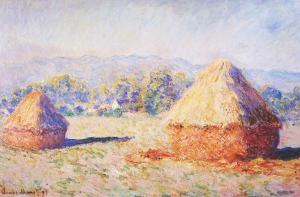 Grainstacks in the Sunlight, Morning Effect, 1890