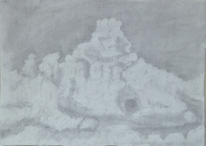 3 - Cloud Formation in Charcoal