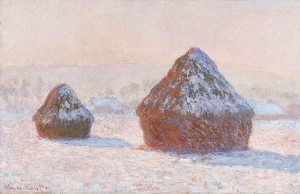 Wheatstacks, Snow Effect, Morning, 1891