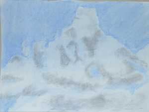 4 - Cloud Formation in Hard Pastel and Charcoal