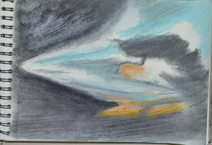 7 - Sketchbook Drawing in Soft Paste (Evening)