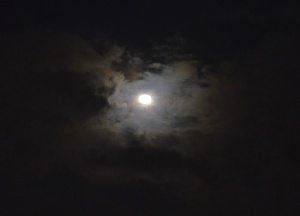 A Photo of the Moon at Night