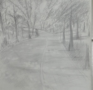 A Sketchbook Walk Second Sketch : HB Pencil