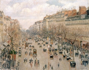 The Boulevard Montmartre 1897