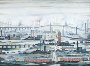 L.S. Lowry Industrial Landscape 1955