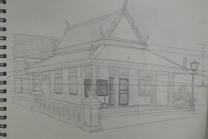 Angular Perspective - LIne Drawing