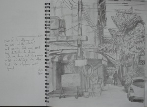 Sketch of Ginnel in H Pencil w Notes
