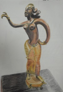 Statue of a Southern Thai Woman Dancing