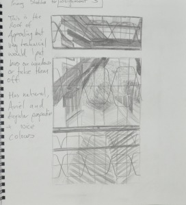 1st Sketch ifrom 2nd floor window in my notebook