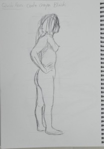 2nd 2 Minute Drawing Black Conte Pencil