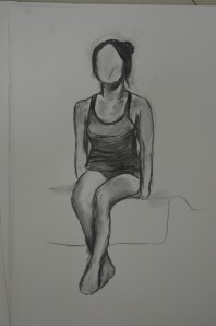 2nd Drawing Sat on Bed A2