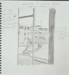 3rdd Sketch View from top floor classroom