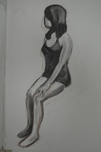 4th Drawing Charcoal over Conte