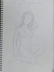 6th 2 Minute Drawing 3 B Pencil