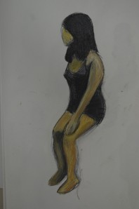 6th Drawing in Hard Pastel