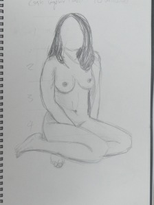 7th Sketch10 Minutes Graphite Pencil
