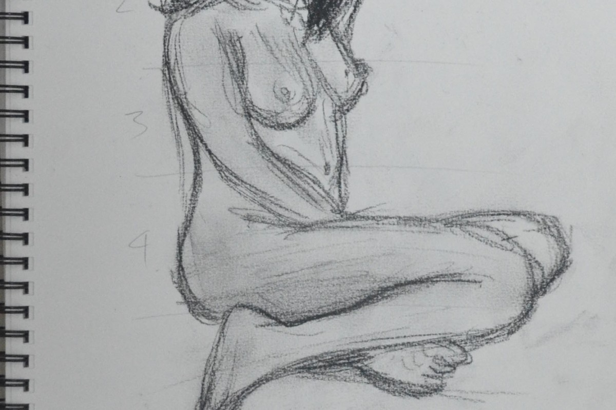 8th Sketch 10 Minutes Compressed Charcoal