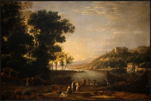 Claude Lorrain Landscape with Merchants