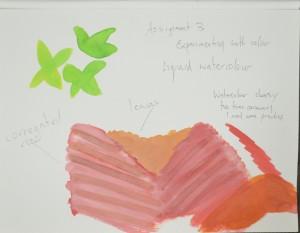 Colour Study in Ecoline Liquid Watercolour