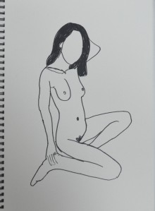 Felt Tip Pen continuous Drawing