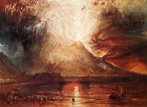 Mount Vesuvius in Eruption