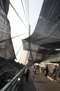 Rama 8 Bridge Roadblock