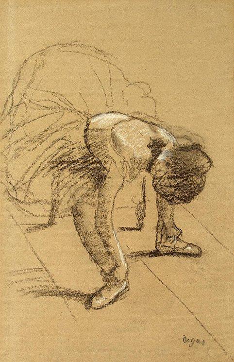 Seat Dancer Adjusting Her Shoes