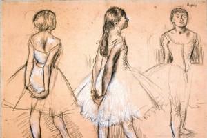 Three Studies of a Dancer' (ca. 1880)