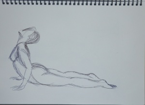 2 - Cobra Pose Faber Castell Ballpoint on A4