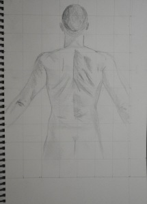 2 - Pencil on A4 Sketch Book Preliminary Drawing