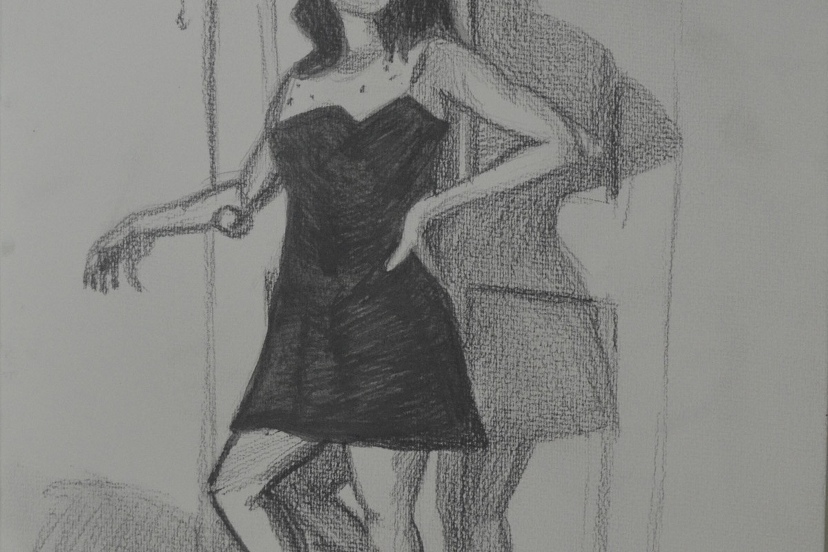 2nd Pose 3 - Water Soluble Pencils Better Proportions