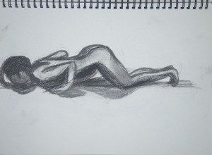 8 - Going into Cobra Pose Charcoal