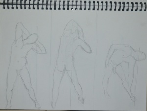 Drawings 6-9 2B on A4