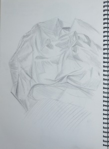 1 - Monk Robe Material in 3B Pencil