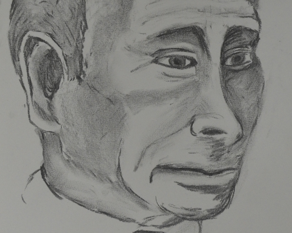 2 - Portrait of Putin in Charcoal